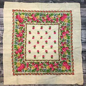 STUNNING Vintage Floral Wool Scarf